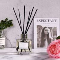 Wholesale Simple Style Transparent Round Bottle Home Reed Diffuser with Black Sticks from china suppliers