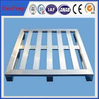 Buy cheap 4 Way Anodized Aluminum Pallets, Industrial Extruded Aluminium Profiles for pallet from wholesalers