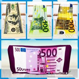 70x140cm cheap beach towels free shipping towel beach towel microfiber Money Euros Dollar Manufactures