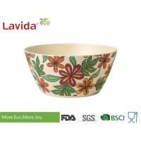 Buy cheap Classic Luxury Large Bamboo Soup Bowls Eco Friendly Unique Rustic Texture For Restaurant from wholesalers
