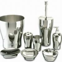 Buy cheap Venus Series Bathroom Set, Includes Tooth Brush Holder, Tumbler, Covered Jar, and Waste Basket from wholesalers