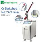 Máquina de c4q conmutado del retiro del tatuaje del laser del Nd YAG, tratamiento del laser para el lunar/el hongo del clavo