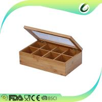 Buy cheap High quality small bamboo tea packaging box with glass lids from wholesalers