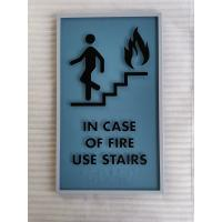 Buy cheap 1/4 Inch Acrylic ADA Stair Signs Vandalproof Light Weight Moisture Resistance from wholesalers