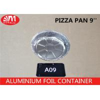 Buy cheap A09 Aluminum Foil Container 9'' Pizza Pan Round Dish 23.5cm x 23.5cm x 4.5cm 1300ml volume For Cooking  Pizza from wholesalers