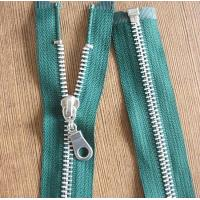8# Light Gold Teeth Long Separation Metal Zippers For Tent , Sleeping Bag Manufactures