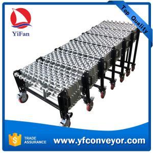Wholesale Heavy Duty Gravity Flexible Steel Skate Wheel Conveyor,Warehouse Loading Unloading Conveyor from china suppliers