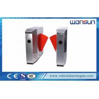 Buy cheap Access Control Alarm Flap Barrier Gate High Speed Retractable For Metro from wholesalers