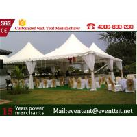 Strong structural marquee pagoda party tent with PVC white side wall for wedding event Manufactures