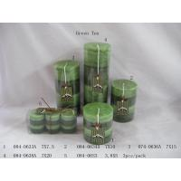 Buy cheap Green Tea Aromatherapy Pillar Candle Home Decoration Crafts from wholesalers