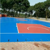 Buy cheap Synthetic Exterior Basketball Court Surfaces , Colored Modular Basketball Flooring from wholesalers