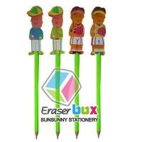 Buy cheap SET003 People shaped multicolor pencil topper TPR festival eraser, pencil eraser toppers from wholesalers
