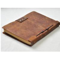 Buy cheap 140 Pages Travel Diary Notebook , Leather Travel Journal Pocket Size 5.2 X 4 Inch from wholesalers