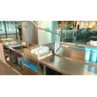 Buy cheap Guest House Hood Type Dishwasher With Unique Concave Anti Blocking Nozzle from wholesalers