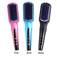 Buy cheap Electric PTC fast heat up hair care magic smooth hair straightener brush from wholesalers