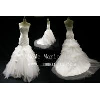 Sweetheart mermaid black handmade folwers wedding dress bridal gown BYB-14601 Manufactures