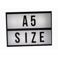 Buy cheap Backlit Cinematic Light Box With Changeable Letters For Advertising , Cinema Light Sign from wholesalers