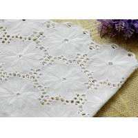 Buy cheap Swiss Voile 100% Cotton Lace Fabric , Embroidery Guipure Lace Fabric For Lady Dress from wholesalers