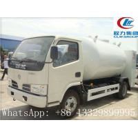 Buy cheap dongfeng brand 95hp 4*2 LHD/RHD 5500L LPG GAS Dispensing Truck, mobile selling cooking gas propane filling truck from wholesalers