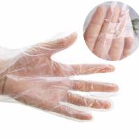 Buy cheap Food Grade Disposable PE Gloves Length 285 - 290mm Tear Proof Multi Color from wholesalers