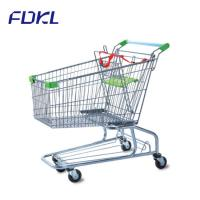 Buy cheap Unfolding Steel Shopping Trolley , Wire Shopping Cart With Wheels from wholesalers