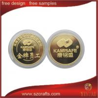 Buy cheap 3D goat metal coin souvenir gold coin with gear edge in China from wholesalers