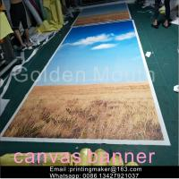 Buy cheap Waterproof Chemical Fabric Canvas Banner Printing Service from wholesalers