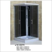 Buy cheap Fully Enclosed Complete Shower Cubicles With Black Painting Tempered Glass from wholesalers