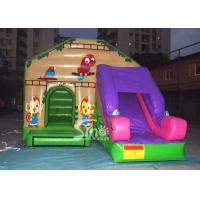 Buy cheap Commercial backyard jungle theme kids inflatable jumping castle with slide made from wholesalers