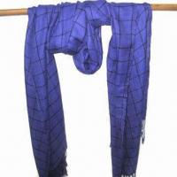 Buy cheap Scarf, Customized Specifications are Accepted, Measures 67x178+10x2cm from wholesalers