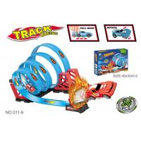Wholesale 47.6 Inche Funny Toy Car Tracks Sets , Toddler Race Track With 4 Consecutive Loops from china suppliers