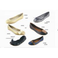 Buy cheap Latest Fashion Flat Leather Shoes With Bow, Buckle, Pearls Design from wholesalers