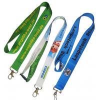 Buy cheap No Minimum Key Card Holder Lanyard PMS Color Woven Lanyards Personalized from wholesalers