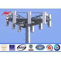 Round Tapered Mast Steel Structure Mono Pole Tower , Monopole Telecom Tower Manufactures