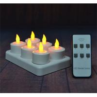 Buy cheap 6Pcs LED Rechargeable Tealight Candle with Charging Base Frosted Holder with Remote Control for Christmas Wedding from wholesalers