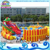 Buy cheap Kids Inflatable Water Slide with a Pool Protable Water Park. Water Pool Slide from wholesalers
