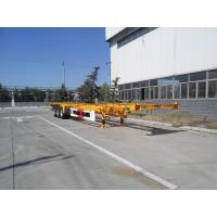 Buy cheap 3 Axle 20/40/45ft Flatbed Container Trailer High Tensile Q345B Material product