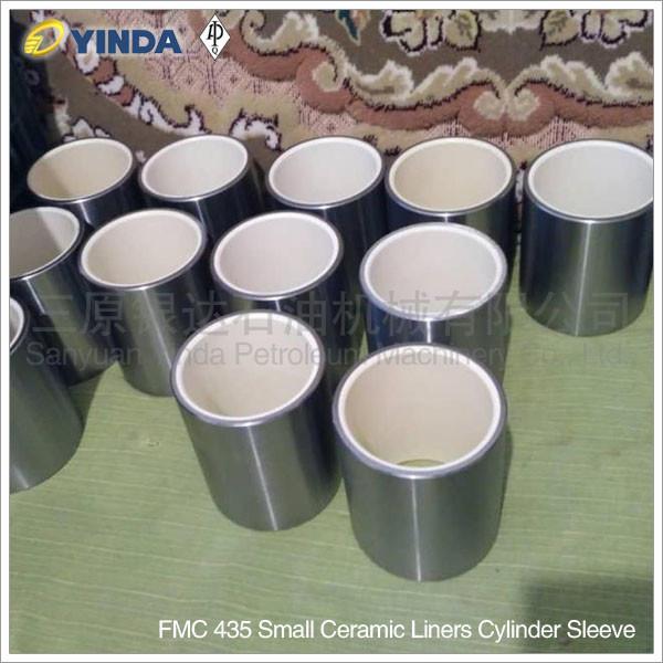 FMC Bean Pump Alumina Ceramic Liners, FMC 435 Small Ceramic Liners Cylinder Sleeve, API-7K Certified Factory