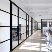 Buy cheap Soundproof Office Glass Partition Walls Aluminum Frame Environment - Friendly from wholesalers