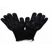 Buy cheap High Temperature Heat Resistant Oven Gloves With Fingers Customized Logo from wholesalers