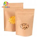 Buy cheap Kraft Paper Mylar Ziplock Storage Bags With Window , Tea / Coffee Bean Packaging from wholesalers