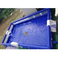 Buy cheap Movable Blue Inflatable Soccer Ball Football Field 16 m *8 m Anti - Ruptured from wholesalers