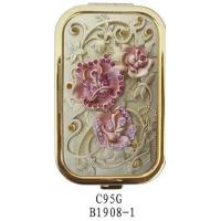 Wholesale Rectangle Rose C95 compact mirror from china suppliers