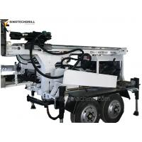 Buy cheap Trailer Wheeled 150 - 220 m Depth and 220 - 150 mm Diameter Water Well Drilling Rig from wholesalers