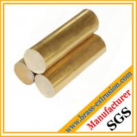 Buy cheap copper alloy extruded casting round brass bars brass rods Polished, brushed, electroplated, antique surface from wholesalers