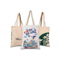 Buy cheap Women Makeup Promotional Shopping Bags Canvas Beach Bag With Drawstring from wholesalers