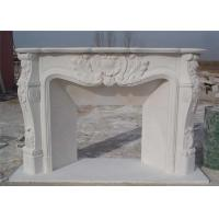 Buy cheap Hand Carved Stone And Marble Fire Surrounds Durable For House Decoration from wholesalers