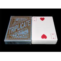 Buy cheap Texas Hold'em Customized Plastic Poker Playing Cards , Big Index Waterproof Playing Cards from wholesalers