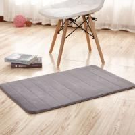 Buy cheap Thick Memory Foam Floor Mats, Bulky Fleece Fabric Grey Fast Drying Bath Mat from wholesalers