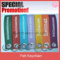 Buy cheap Logo pirnt felt promotional key chain from wholesalers